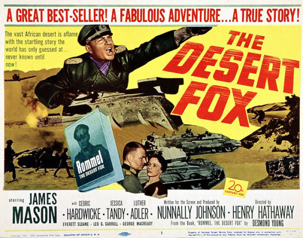 Original US poster for The Desert Fox