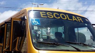 Em Lagoa de Roça, estudante é baleada durante assalto a ônibus