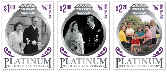 New Zealand Post Has Created This Special Commemorative Stamp Issue To Celebrate Queen Elizabeth II And Prince Philip Duke Of Edinburghs Platinum Wedding