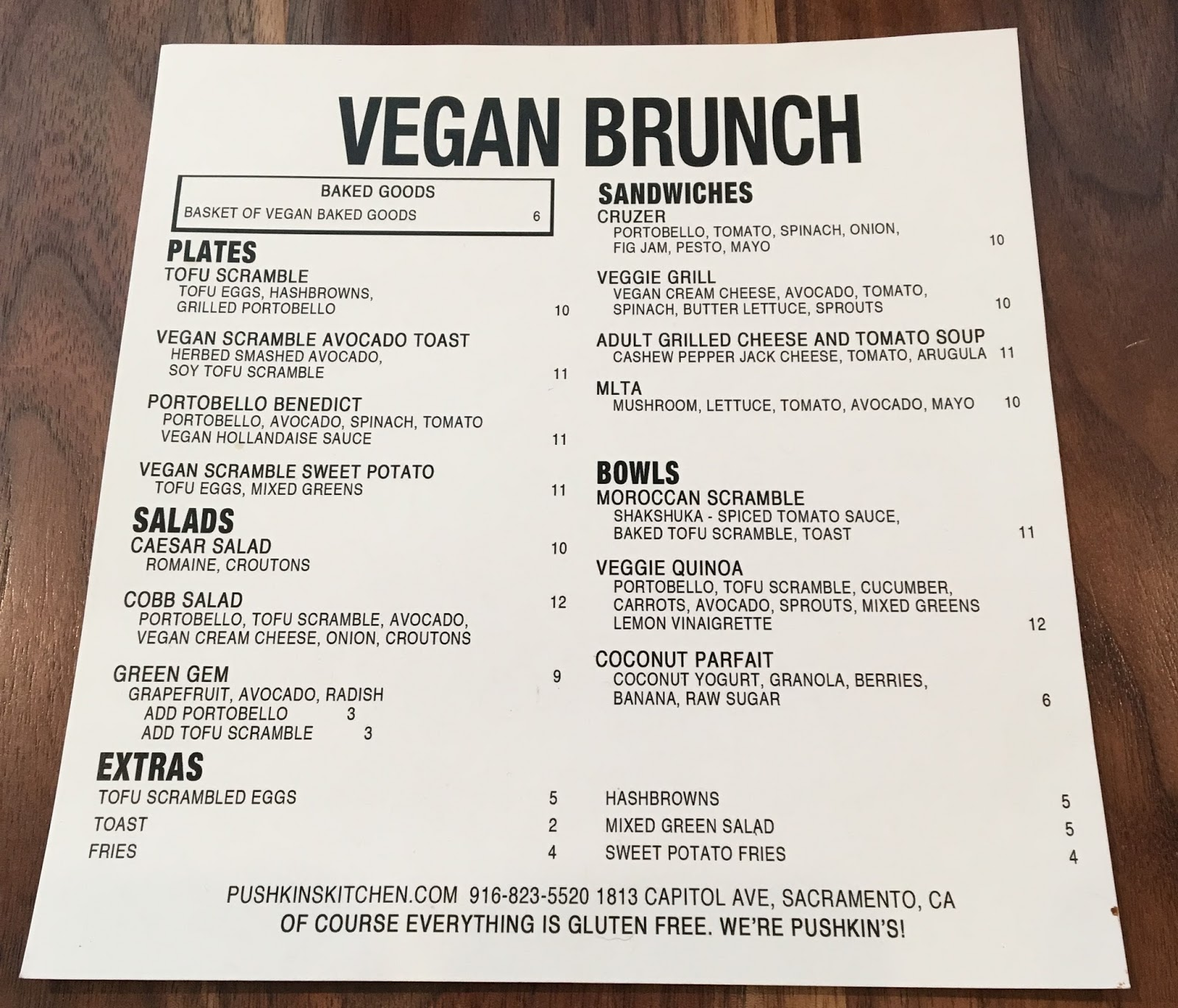 The Menu At Pushkin S Restaurant Is 100 Percent Gluten Free But They Also Offer A Separate That All Vegan I Had Lunch There Last Week With My