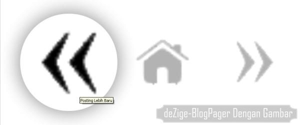 Modifikasi Tampilan Blog-Pager Dengan Gambar