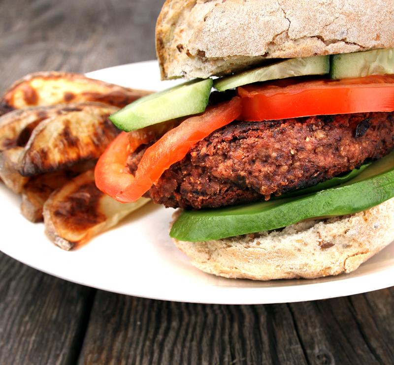 Oppskrift Chipotleburger Hjemmelaget Kjøttfri Burger Veggisburger Vegetarburger Veganburger Sorte Bønner Tofu