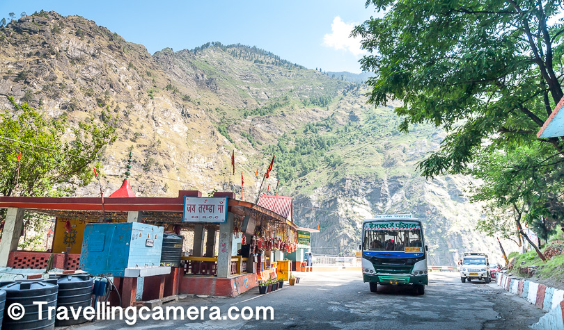 After moving ahead, we hit the place where Taranda Mata temple is located. All the vehicles stop here to take blessings of the Taranada Mata for safe & comfortable trip ahead. And vehicles coming back also stop to say Thanks :).
