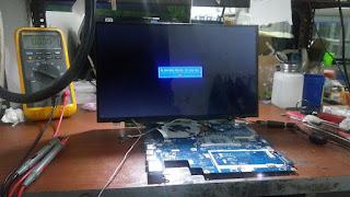 service laptop lenovo lampu layar led mati,di malang