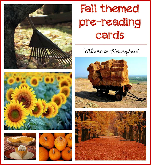 Fall inspired prereading cards for toddlers and preschoolers by Welcome to Mommyhood #montessori, #preschoolactivities, #toddleractivities #montessoriprereadingcards, #montessoriactivities, #montessoripreschoolactivities