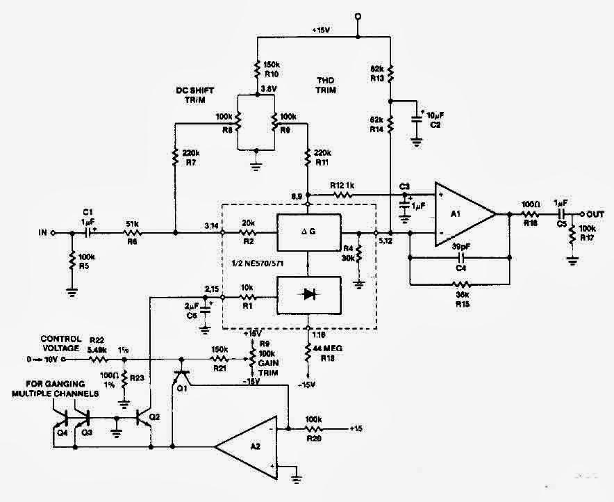 Forum Diagram: NE570 Attenuator circuit