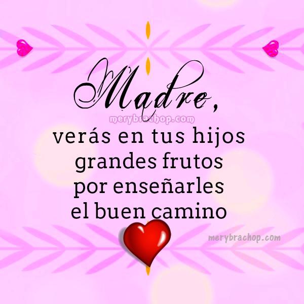 Mensajes cristianos cortos y bonitos, frases para la madre en su feliz dia con imágenes lindas para facebook por Mery Bracho