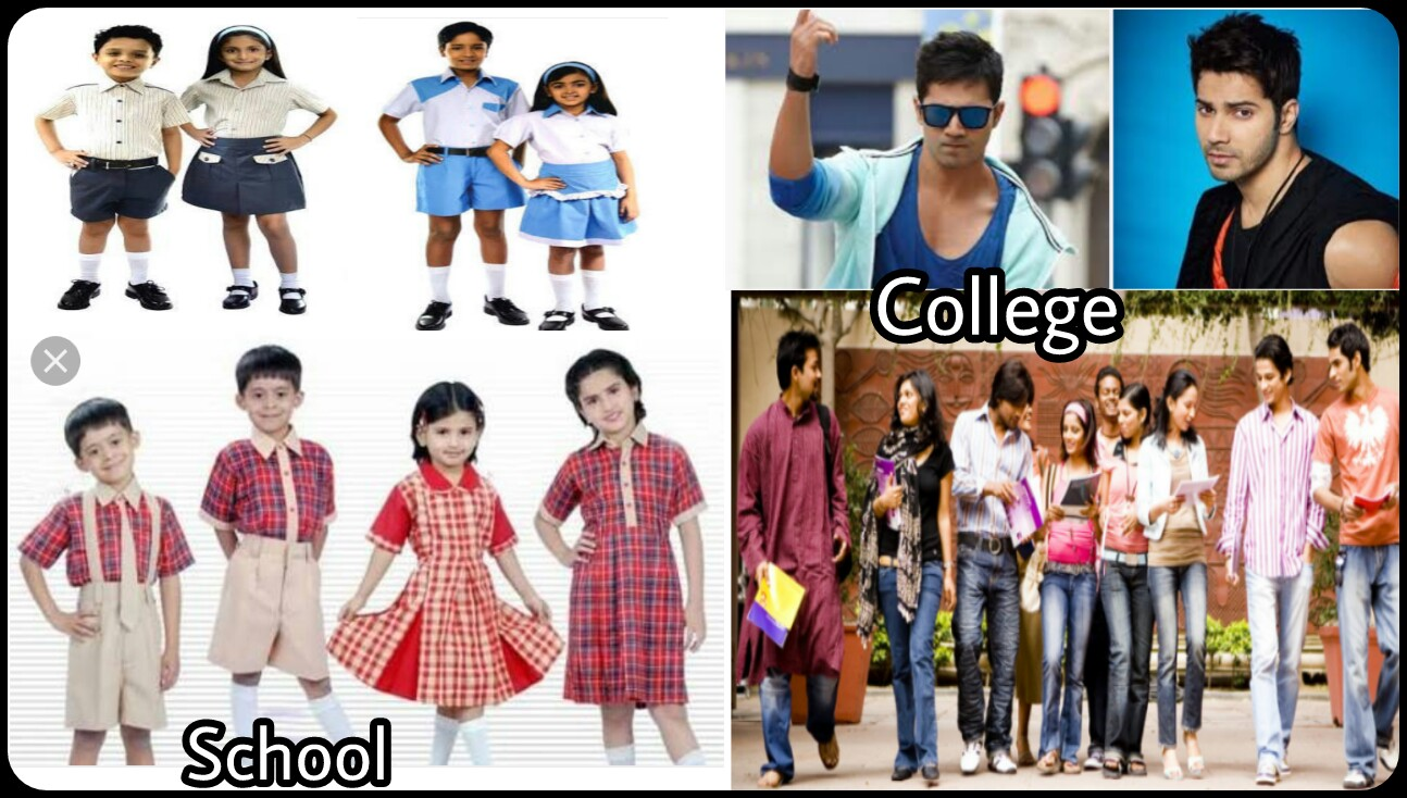 dressing styles of school and college students