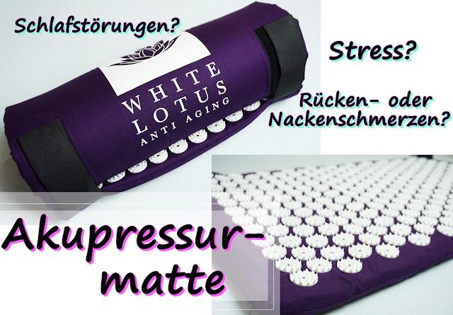 White Lotus - Akupressurmatte (Mit Piksen zur Entspannung)