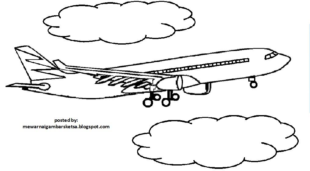 Gambar Mewarnai Pesawat Garuda Gambarmewarnai2019