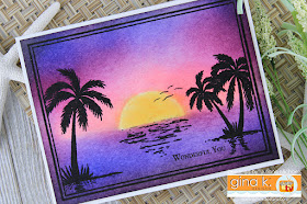 Wonderful You Card by Juliana Michaels featuring Framescapes Tropical Skies by Gina K Designs