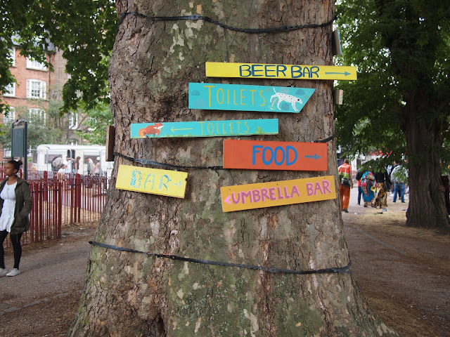 Camberwell Fair, London SE5, July 25 2015 : signposts