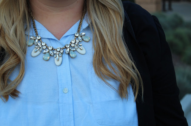 Styling a button-up blouse