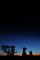 Venus and Jupiter seen on March 13, 2012 from Earth