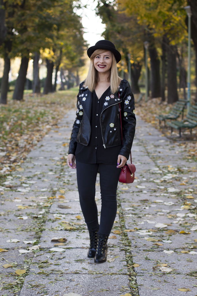 how to wear the embroidered leather jacket