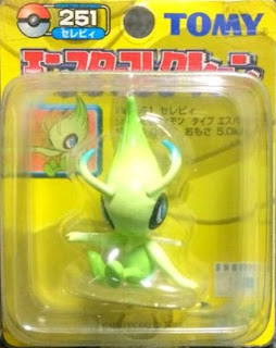 Celebi figure Tomy Monster Collection yellow package series