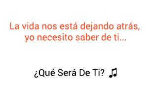 Thalía ¿Qué Será De Ti? significado de la canción.