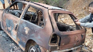 Corpo carbonizado é achado em porta-malas de carro em zona rural da PB