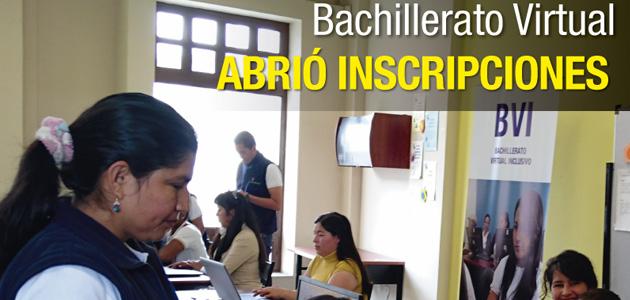 Inscripciones Bachillerato Virtual Inclusivo Municipio de Quito