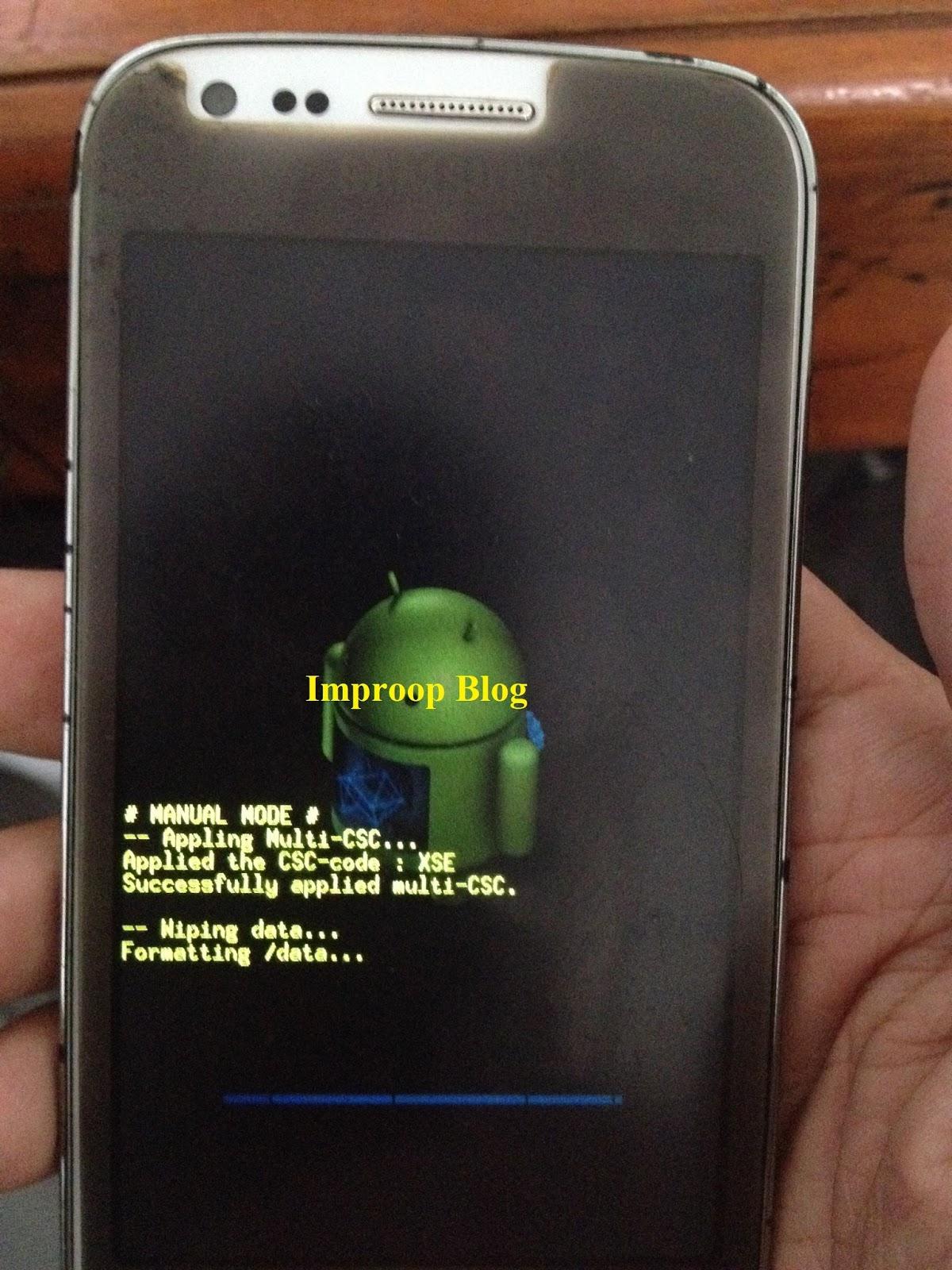 Selamat Hp anda sudah kembali normal tetapi data yang tersimpan di smartphone tidak bisa terselamatkan D