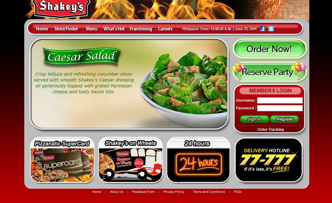 Order Food Online Checking Account