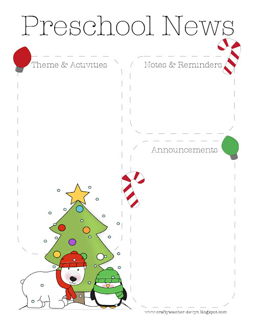 xmaspresenewsletter January Pre Newsletter Template on parent classroom, printable classroom, free business, microsoft office word, real estate, free editable monthly,