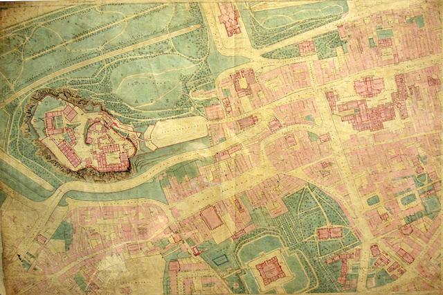 stare plany miasta, stary plan Edynburga
