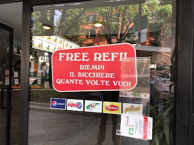 Free refills.