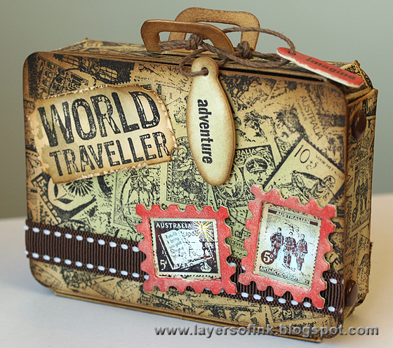 Layers of ink: Postage Stamp Suitcase
