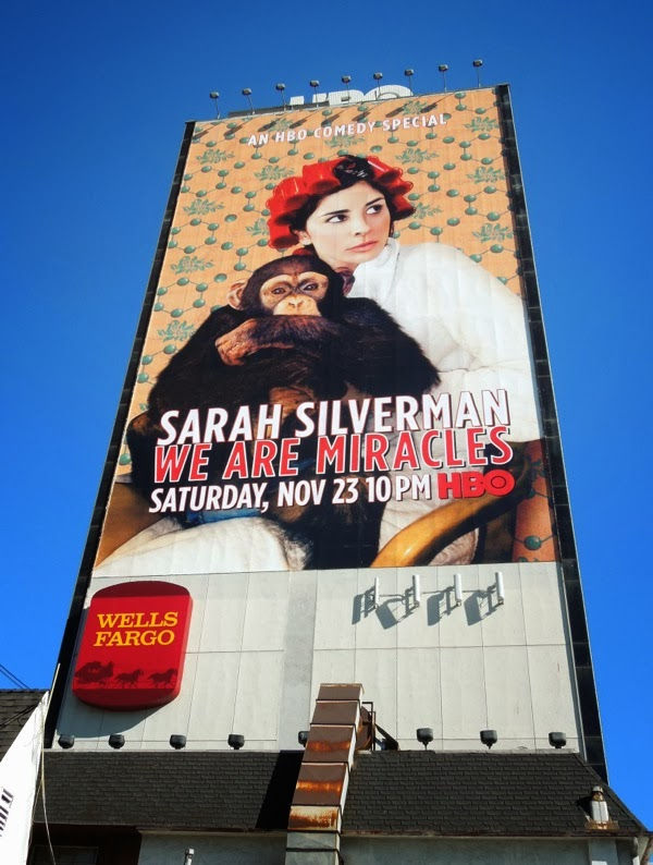 Giant Sarah Silverman We Are Miracles HBO billboard