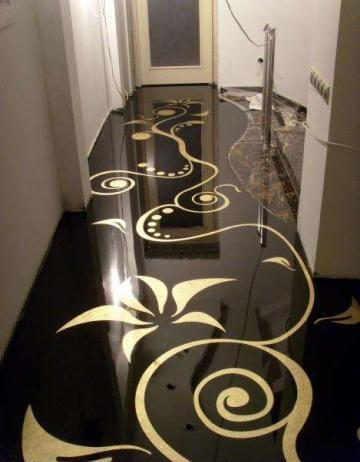 Dwell Of Decor 20 Stunning 3D Black And White Epoxy Floor