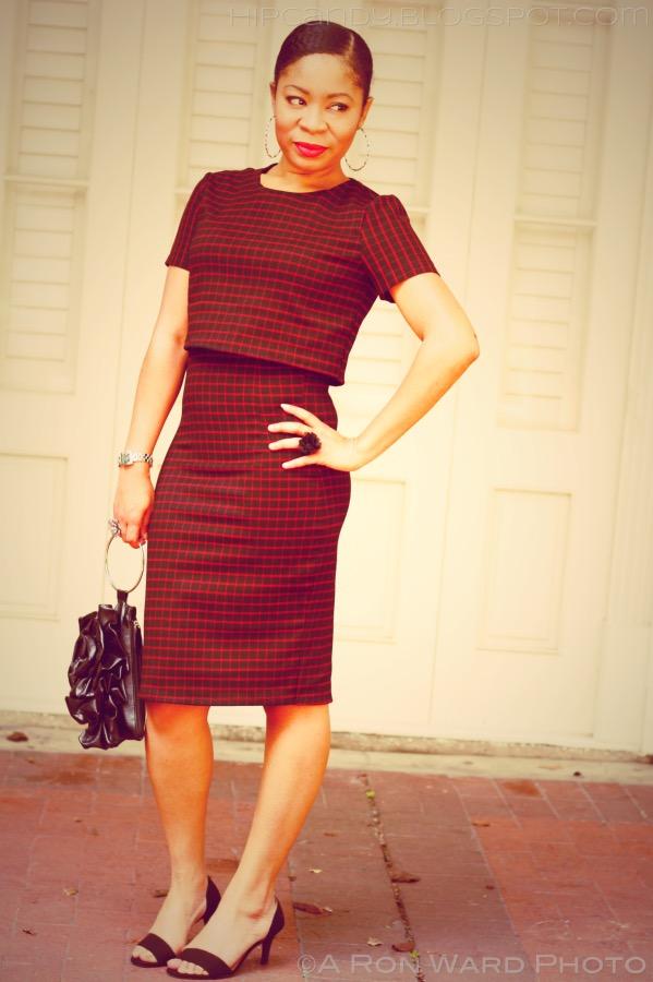 diy style 2 piece body con crop dress set