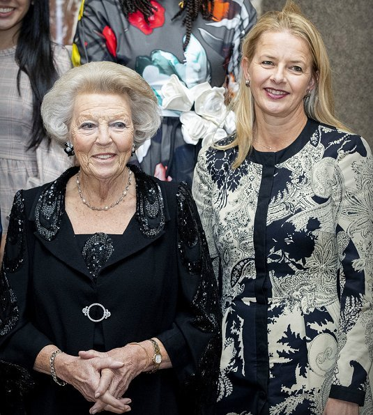 Queen Maxima wore Claes Iversen dress. Princess Beatrix, Princess Laurentien and Princess Mabel, Kamala Ibrahim Ishaq