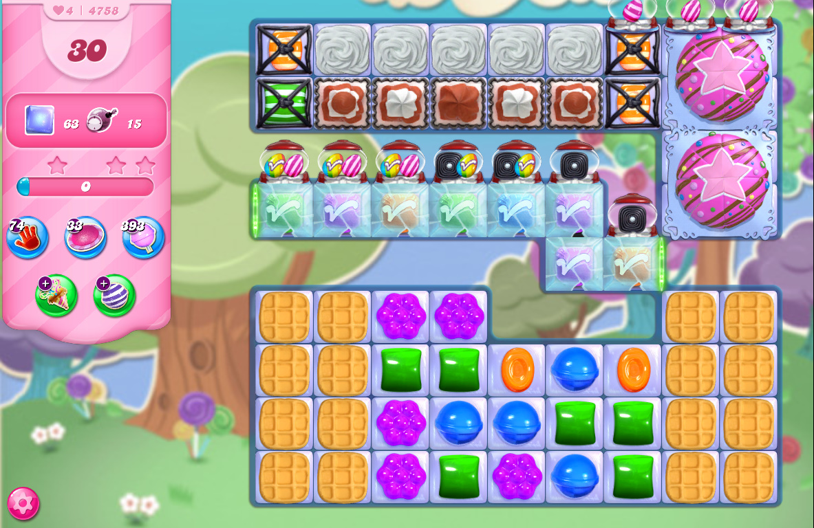 Candy Crush Saga level 4758