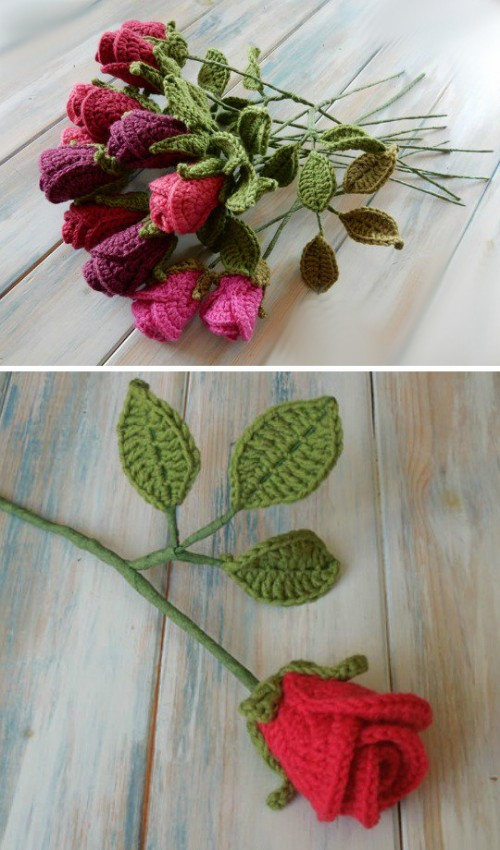 Crochet Realistic Roses - Free Pattern
