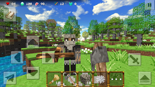 Screenshots of the MiniCraft 2 for Android tablet, phone.