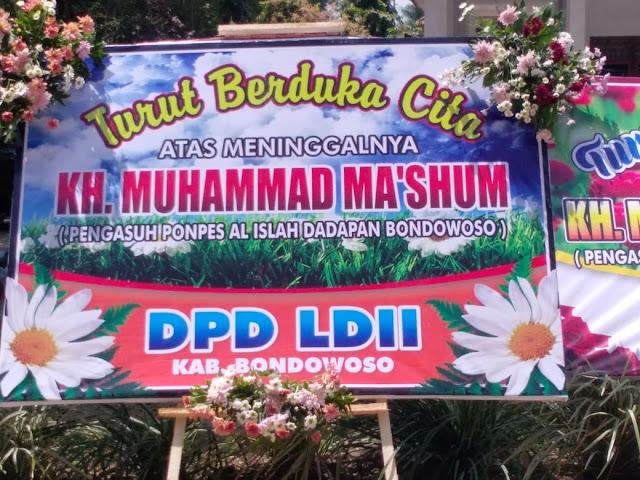 LDII Bondowoso Turut Berduka Cita Atas Wafatnya KH Muhammad Ma'shum