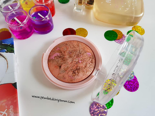 pretty by flormar baked blush shimmer bronze