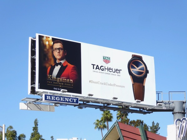 Tag Heuer Kingsman watch billboard