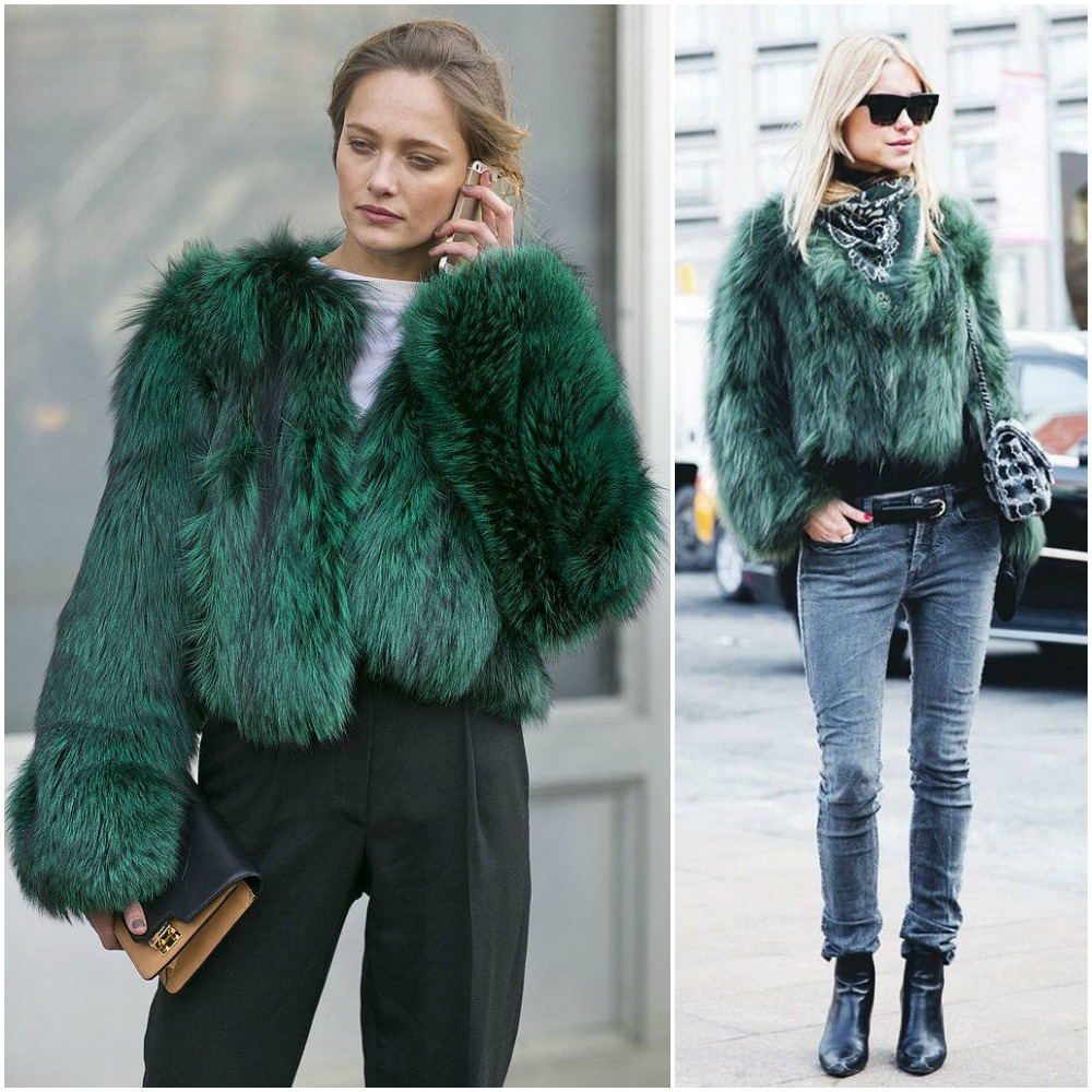 Image result for green faux fur coat