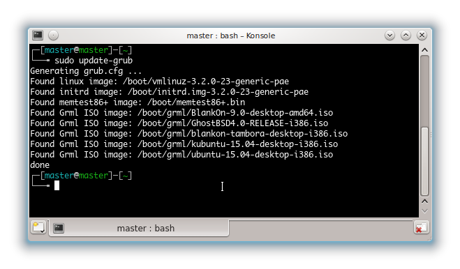 Easily Boot Linux ISO from HDD with grml-rescueboot