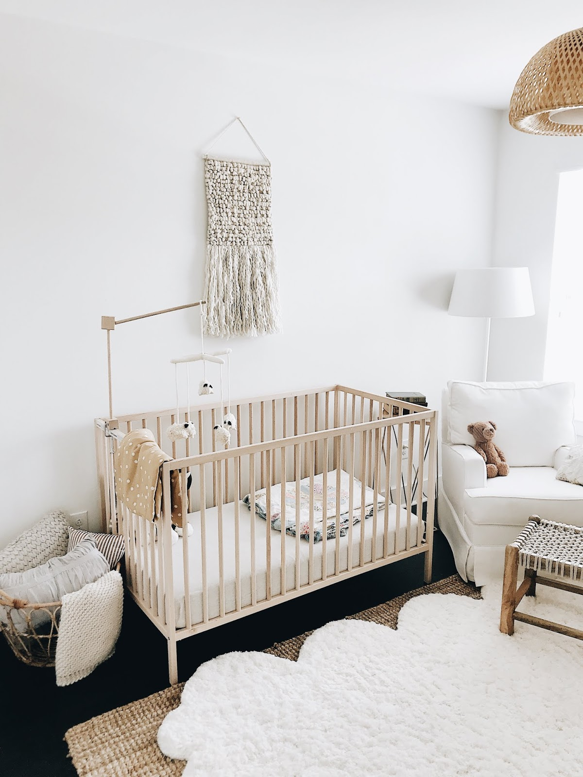 I Am So Excited To Share Nash S Finished Nursery We Went With A Neutral Color Scheme Birch Wood And Greenery Sentimental Pieces As Accents