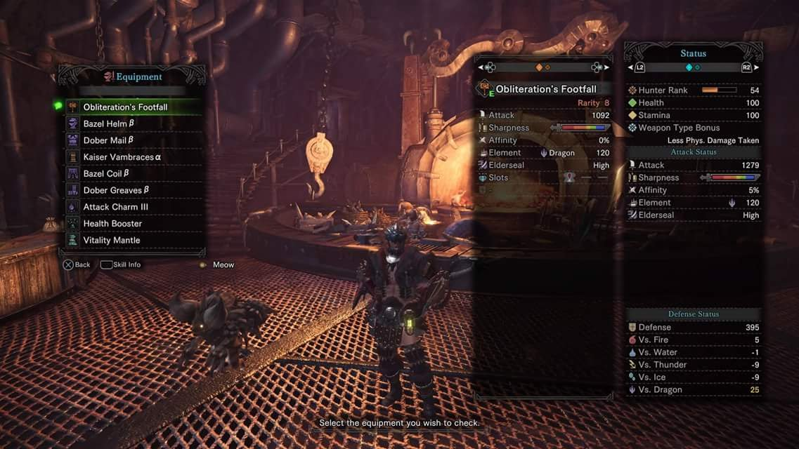 Kpo and czm monster hunter world hammer build max for Decorations monster hunter world