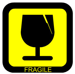 Sample fragile symbol
