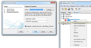 Using oracle weblogic 12c with netbeans ide.