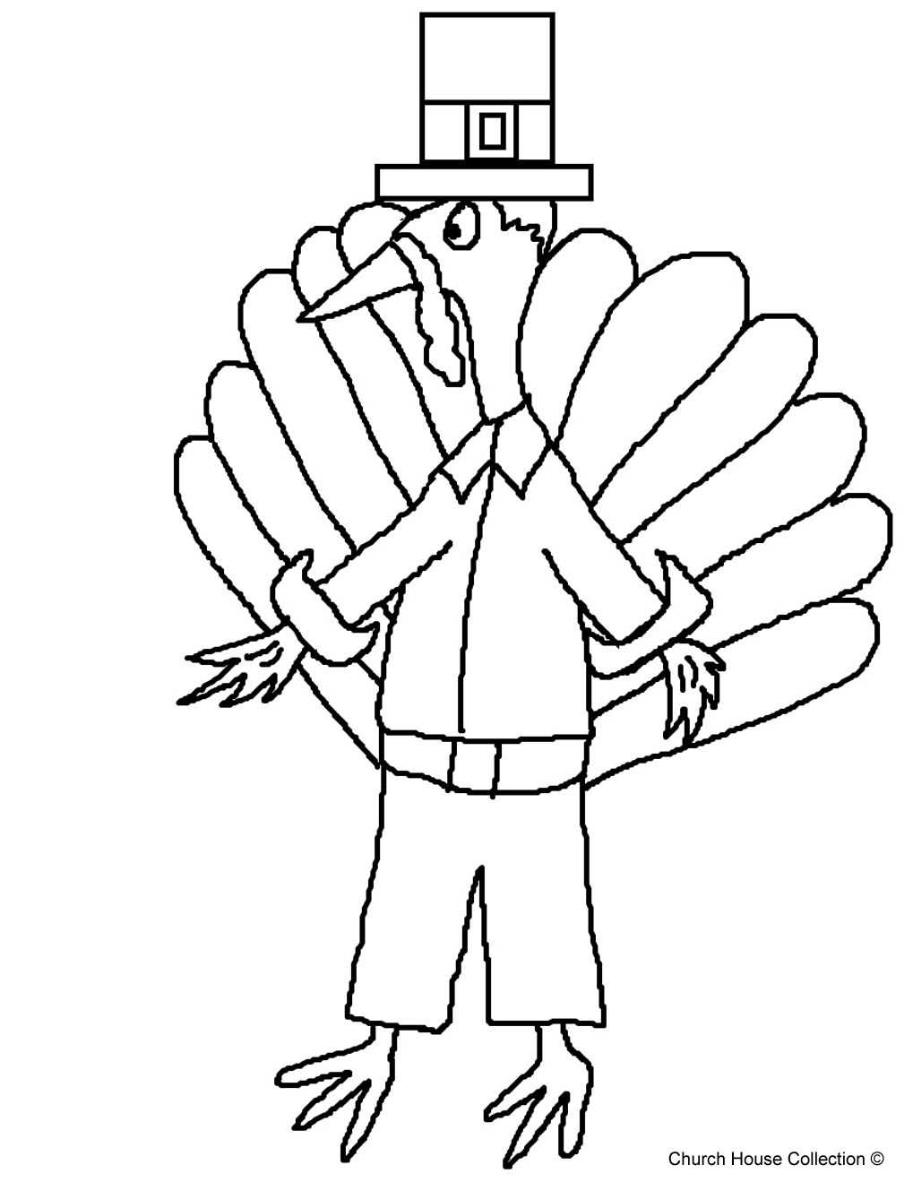 Church house collection blog free printable pilgrim for Turkey template for bulletin board