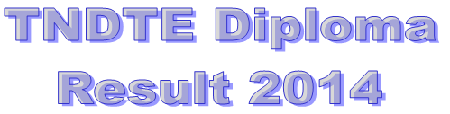 TNDTE Diploma result 2014