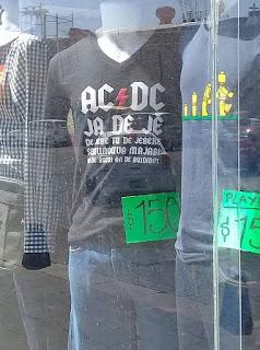 AC DC remera humor