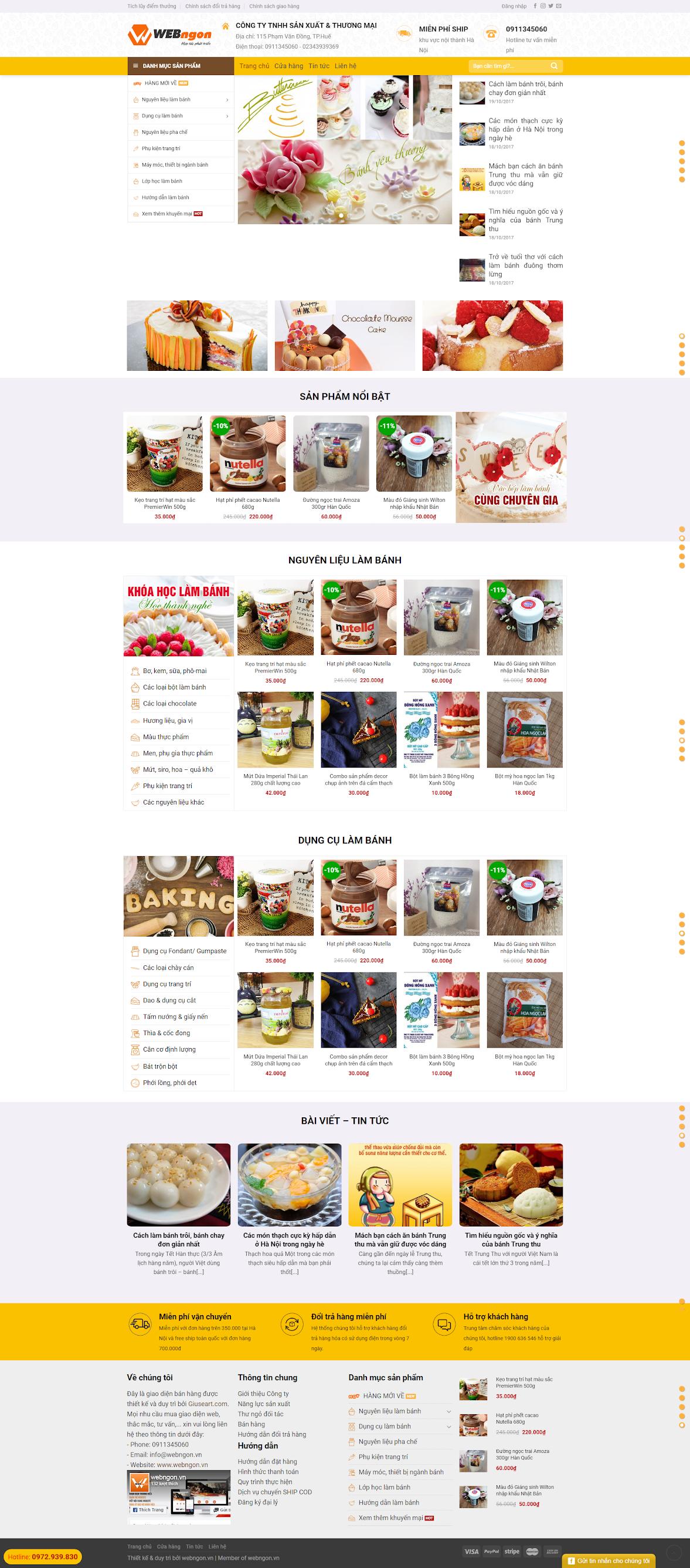 mẫu shop bánh - nguyên liệu làm bánh wn021