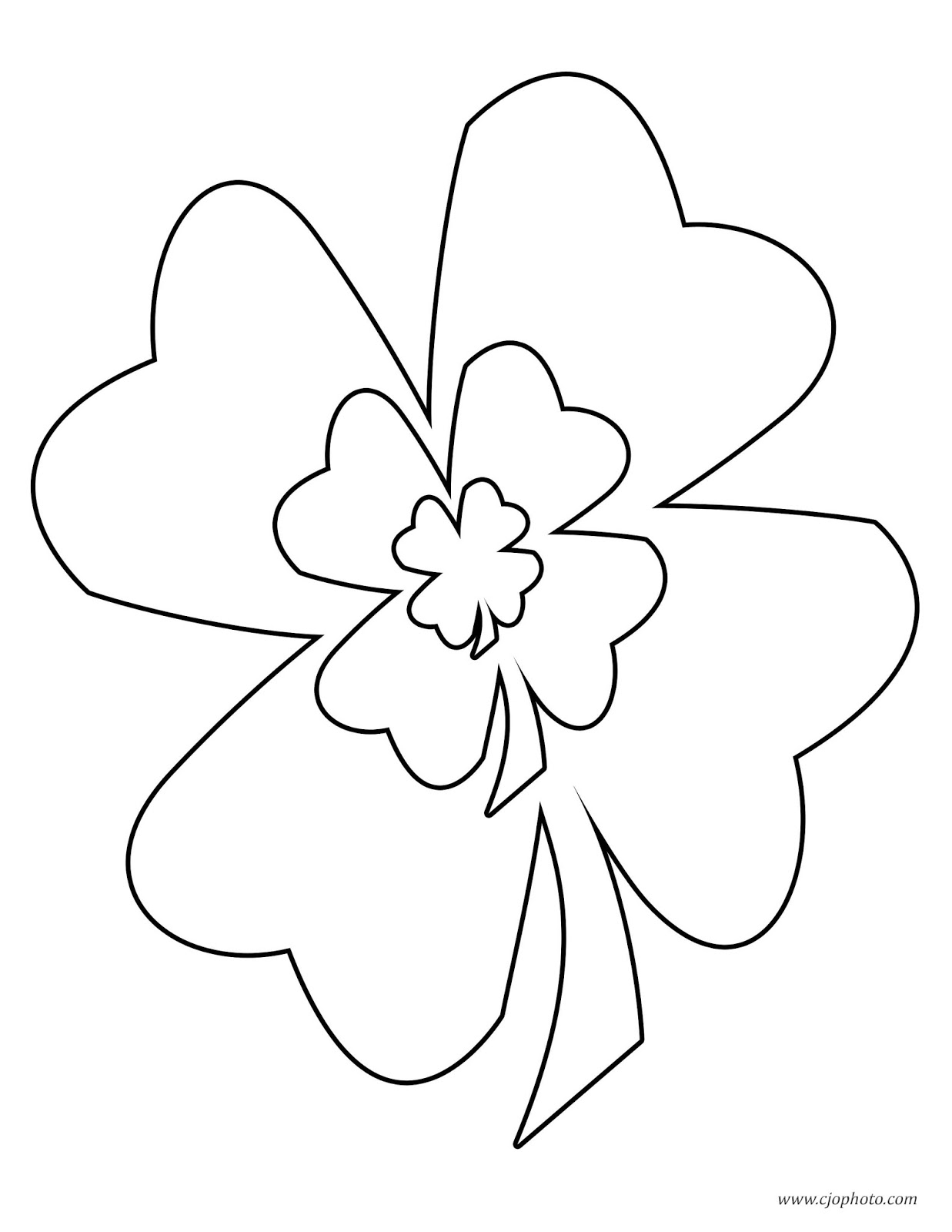 CJO Photo: St. Patrick\'s Day Coloring Page: Three Shamrocks
